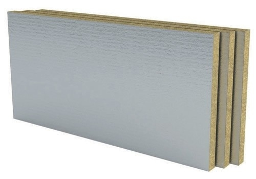 Taş Yünü Alüminyum Folyolu Dış Cephe Levhası (12cm) (50 kg/m3)
