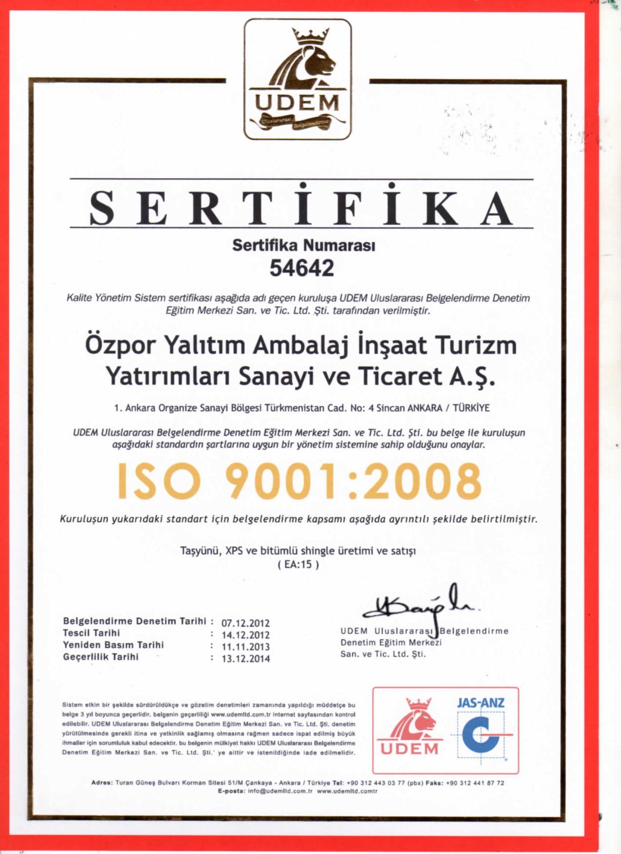 Alüminyum Folyolu Dış Cephe Levhası (8cm) (50 kg/m3)-5243