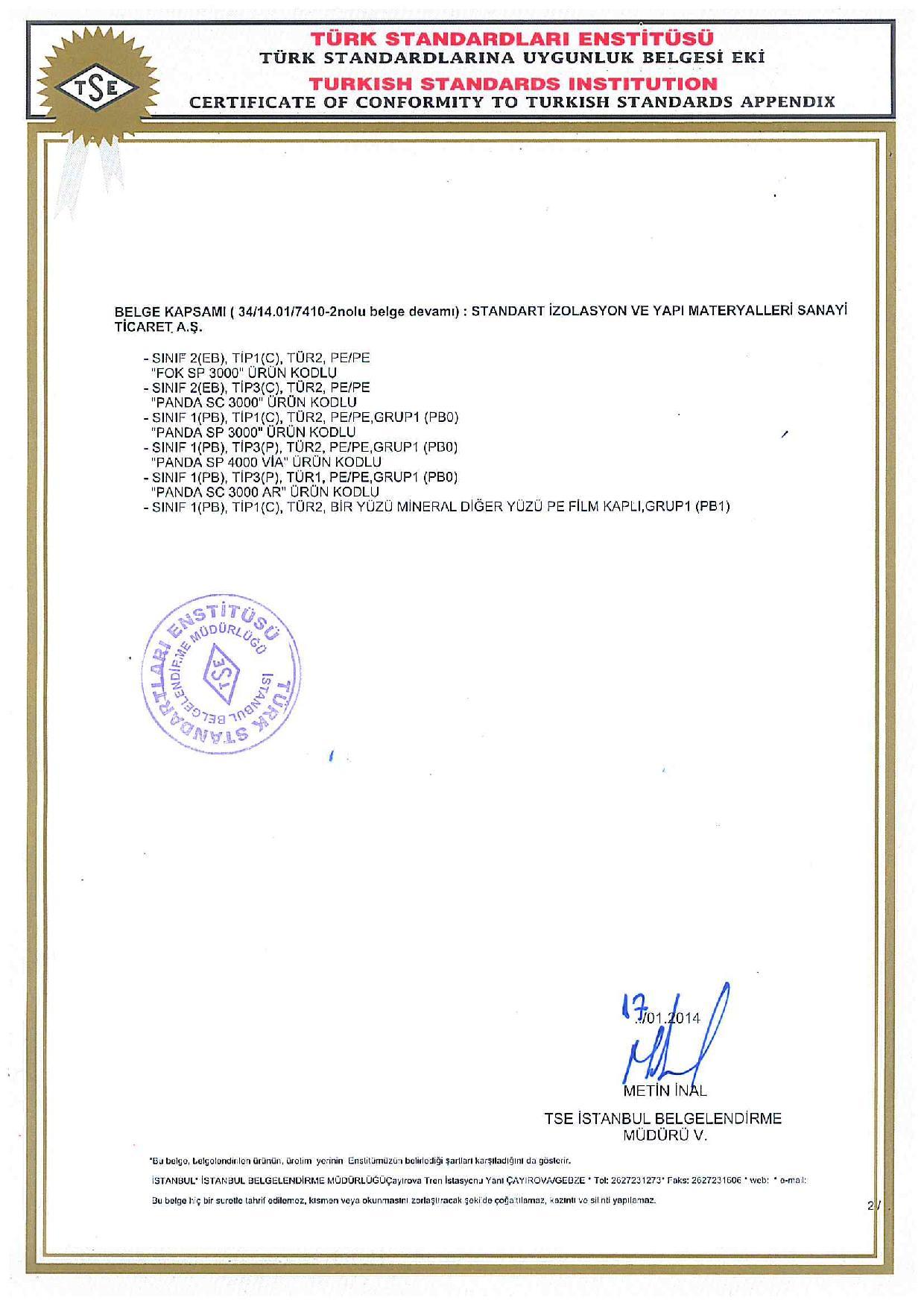 Penguen Alüminyum Folyolu SP3000 AF (3mm)-5830