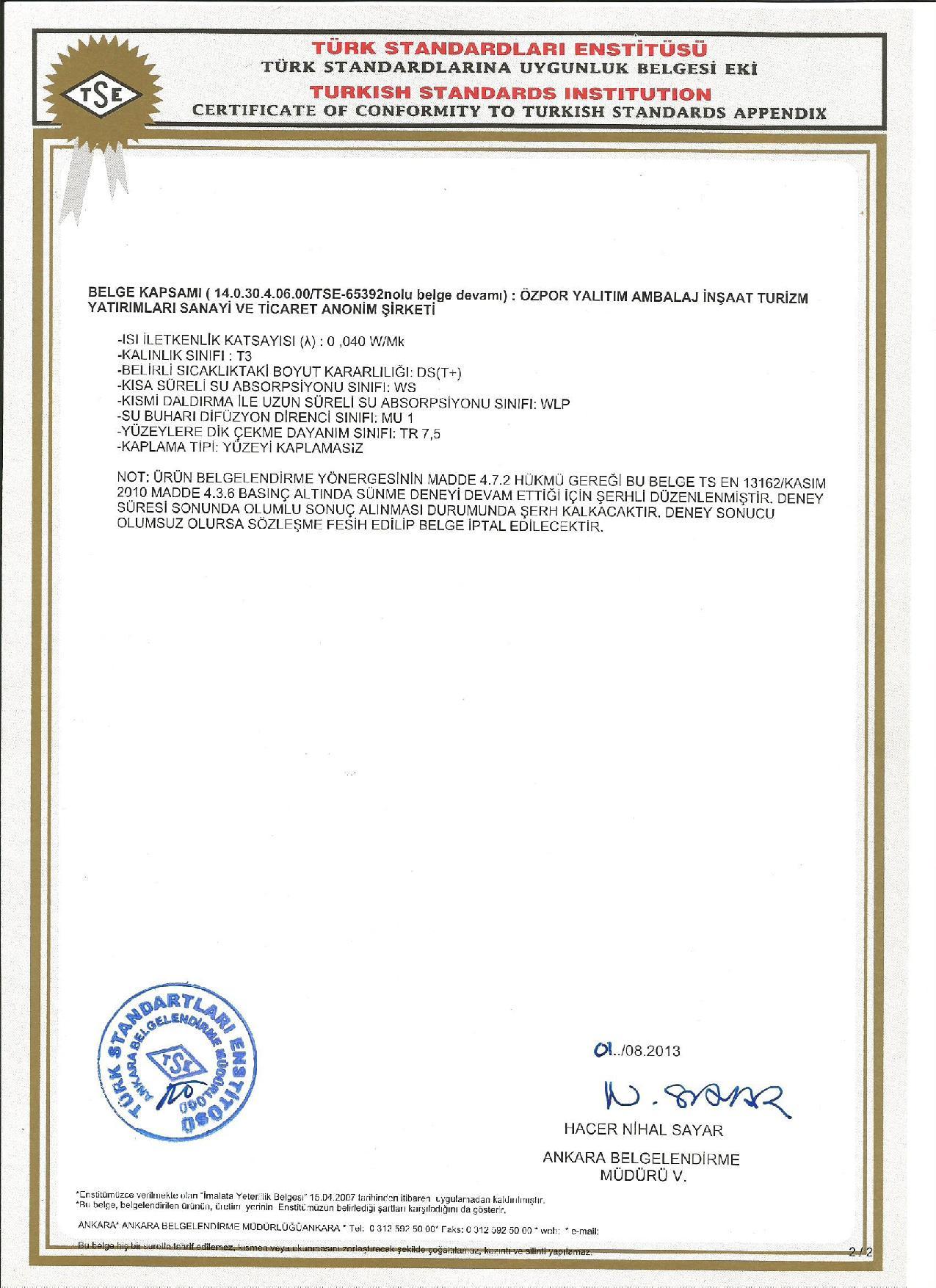 Alüminyum Folyolu Dış Cephe Levhası (3cm) (50 kg/m3)-5262